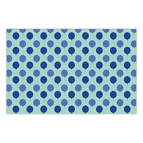 baby shower paper placemats blue