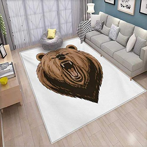 bear area rug angry scary