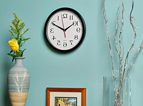 Bernhard Products Wall Pack Silent Quartz Inch Easy to Read Home/Office/School Clock