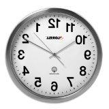 "Lorell 61001 Atomic Wall Clock, 11-3/4"", Chrome"