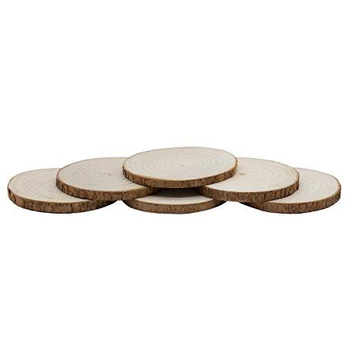 Large Size Camphor Drink Coasters, GOH DODD 6 Piece Inch Tree Bark Absorbent Coasters Set, 100% Natural Organic for