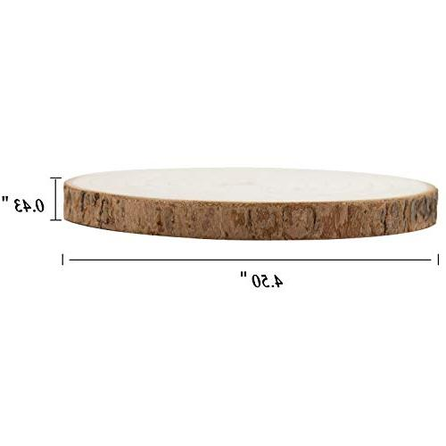 Large Size Wood Drink Coasters, GOH 6 Tree Set, and Organic Decor for Home Table