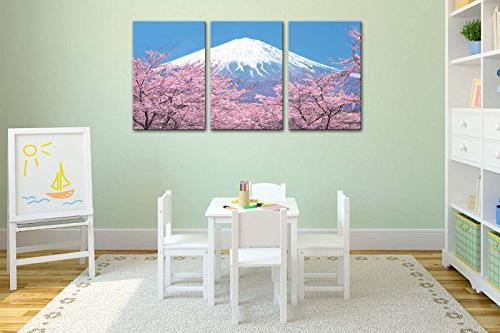 Canvas Peak With In Sky View From Kawaguchiko In Spring Panel Paintings Stretched Artwork The Picture Room Decoration Photo