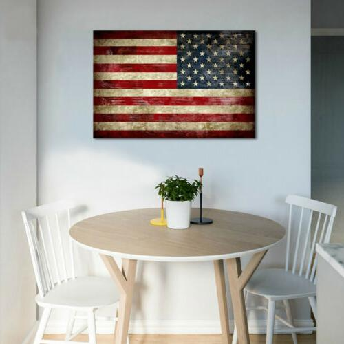 Canvas Wall Print Painting Home Office Decor Vintage American