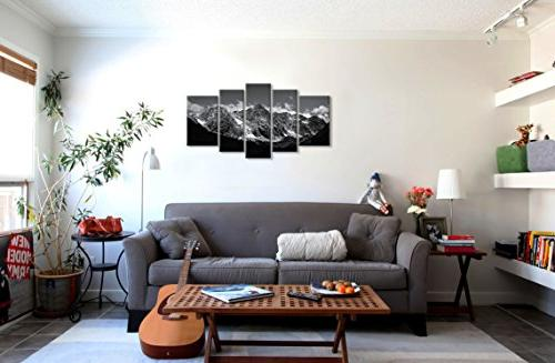 Canvas Art For Home 5 Modern Framed For Snow Photo Prints On