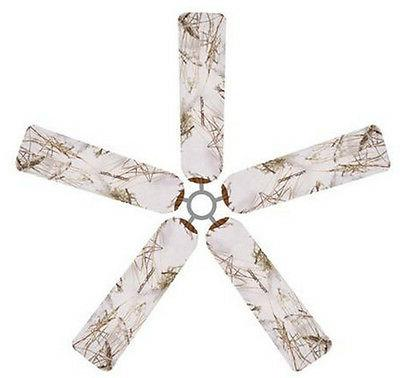 ceiling fan blade fabric cover snow 5pcs