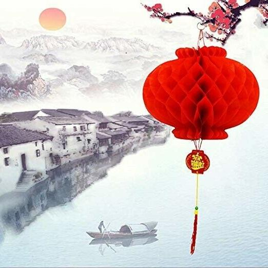 Ess Chinese Red Lanterns Tet Party Home Office 16 Pack