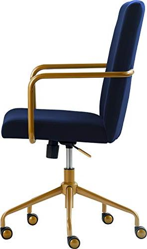Awesome Elle Decor Chr10058C Giselle Home Office Chair Navy Ibusinesslaw Wood Chair Design Ideas Ibusinesslaworg