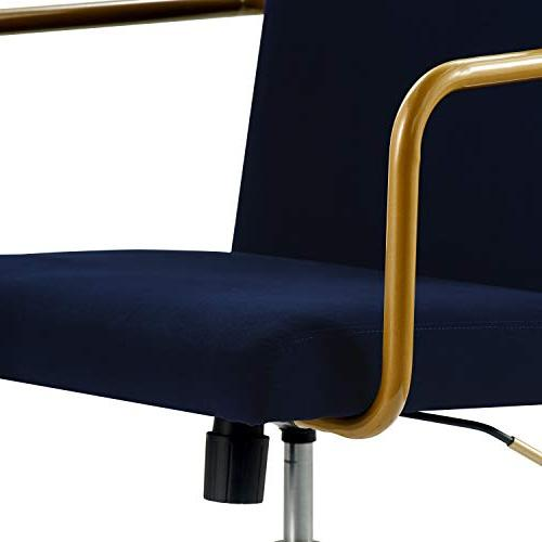 Terrific Elle Decor Chr10058C Giselle Home Office Chair Navy Ibusinesslaw Wood Chair Design Ideas Ibusinesslaworg