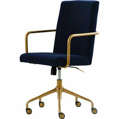 Cool Elle Decor Chr10058C Giselle Home Office Chair Navy Ibusinesslaw Wood Chair Design Ideas Ibusinesslaworg