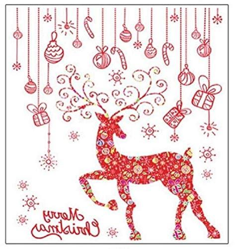 christmas window clings wall decals