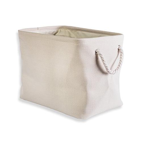 collapsible variegated polyester storage basket