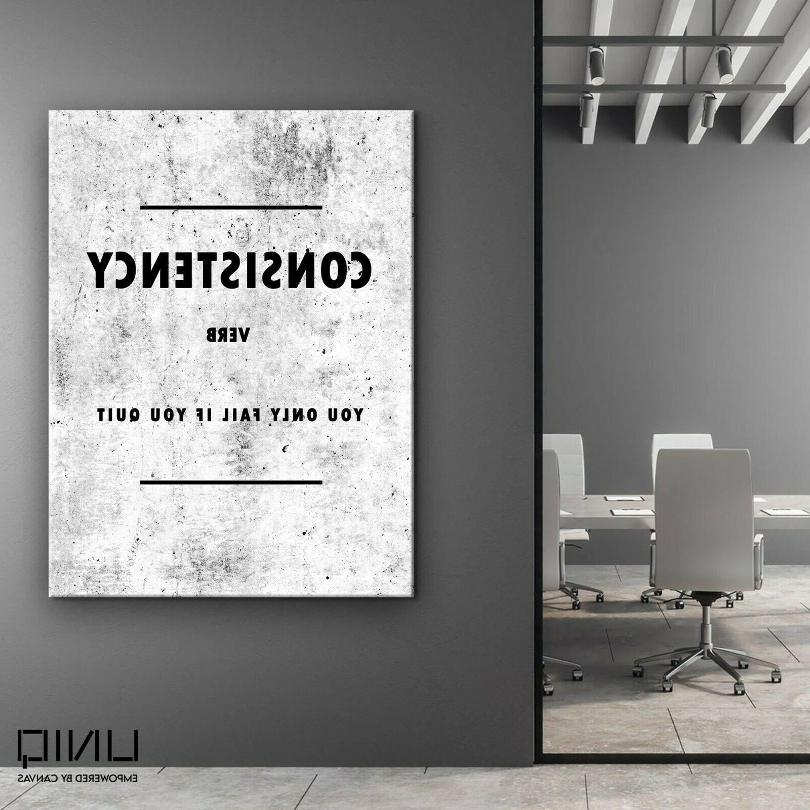 Consistency Wall Art Decor