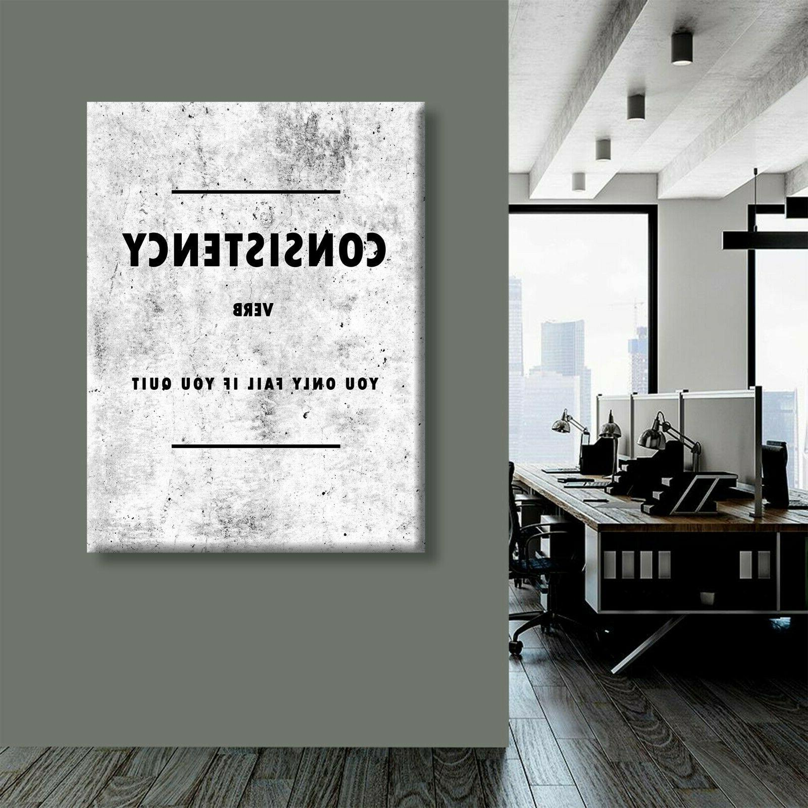 Consistency Definition Wall Canvas Art Decor