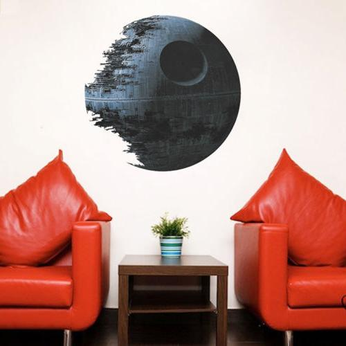 Death Star Wars Removable Wall Stickers Art Decal Kids Home Decor