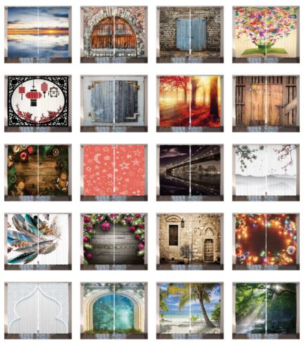 Decorative Drapes Printed Curtains for Home and Office 5 by