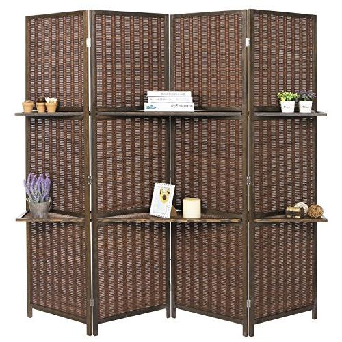 deluxe woven brown bamboo panel