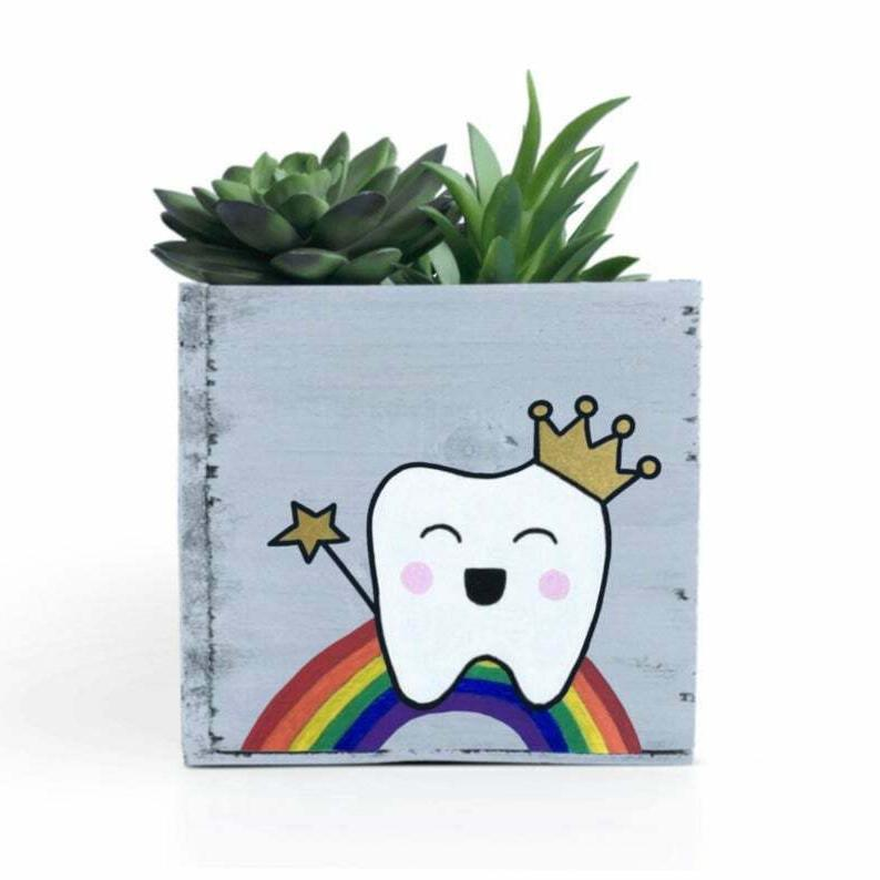 Dentist Planter Personalized Tooth - Dental Office