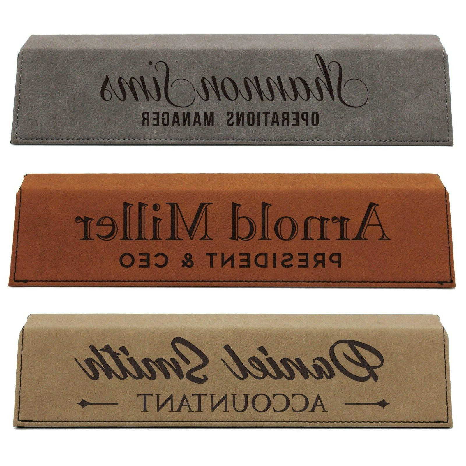 Desk Name Plate Plaque Personalized Nameplate Office
