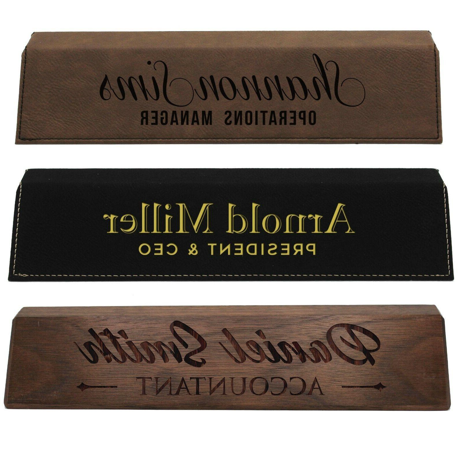 desk name plate plaque personalized custom engraved