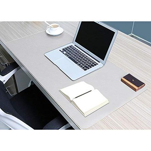 """HOMECAS Desk PU Leather Pad for Office Home, 31.5"""" 0.08"""" Waterproof Desk"""