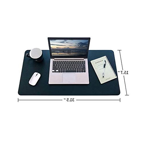 """HOMECAS PU Leather Mouse for 31.5"""" 15.7"""" 0.08"""" Waterproof Desk Mat"""