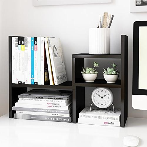 desktop office storage rack adjustable