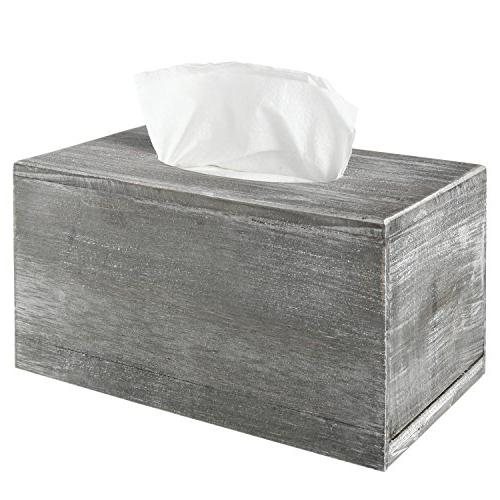 distressed gray wood facial tissue