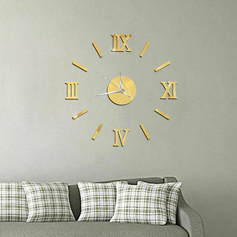 DIY Wall Watch 3D Acrylic Decals Modern Decor