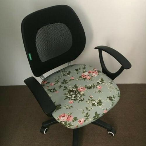 Elastic Office Cover Decorative Swivel Chair Seat Slipcover