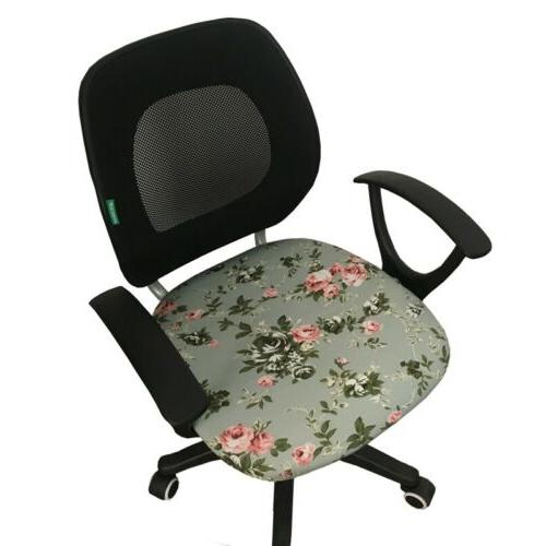 elastic office chair seat cover decorative swivel