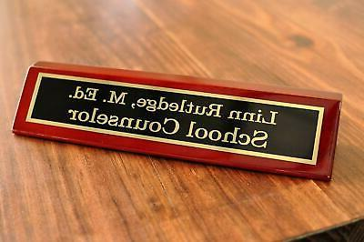 Engraved Desk - Office Plate for Desk Desk Name