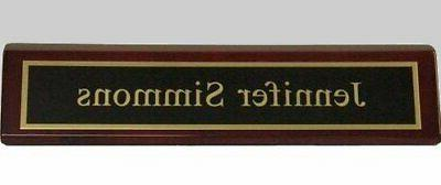 Engraved - Office Name for Business Desk