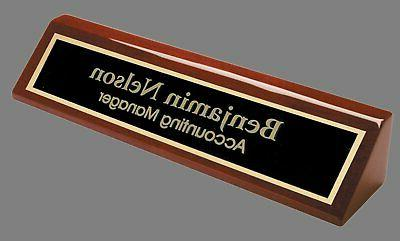 Engraved Desk Name - Office for Desk Plate