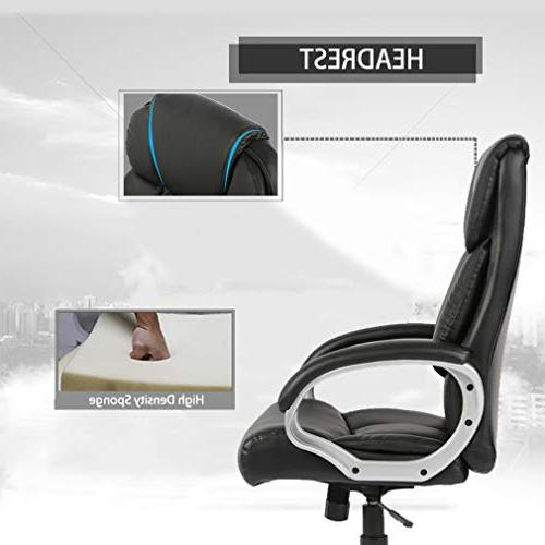 BestOffice Office Desk Ergonomic Swivel Executive Task Computer High Chair with in