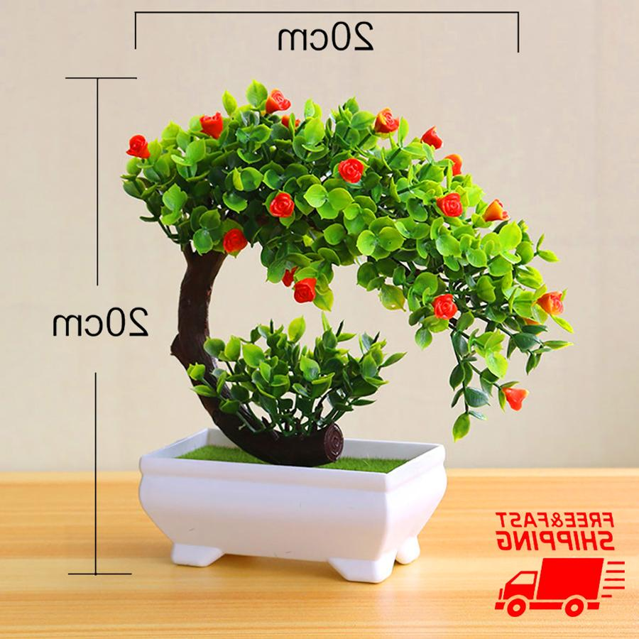 fake bonsai artificial potted plant decor home