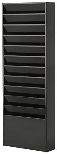 Displays2go File Folder Wall Rack with 11 Tiered Pockets, Of