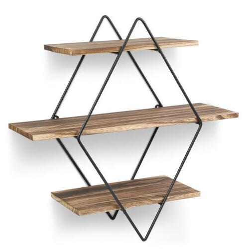 Floating Wall Mount Home Office Storage Display Rack NEW