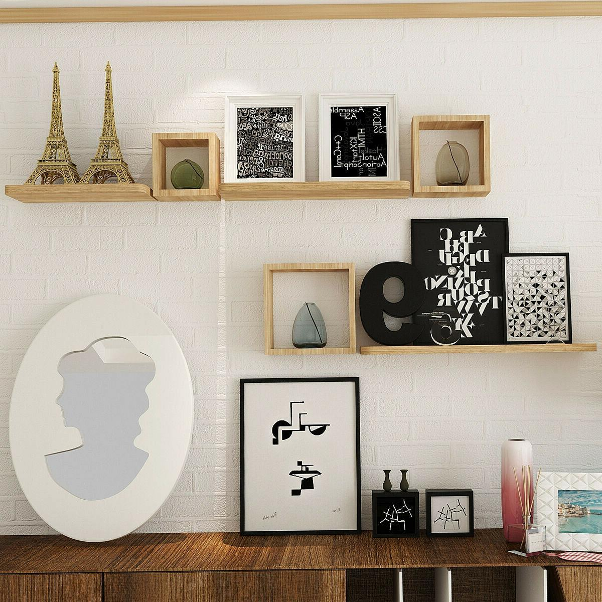 Floating Wall Shelves Home Display Office Bookshelf Decor 6