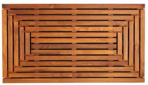 Bare Decor Giza Shower, Spa, Door Mat in Solid Teak Wood and