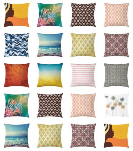 Home & Office Throw Pillow Case Cover with by Ambesonne