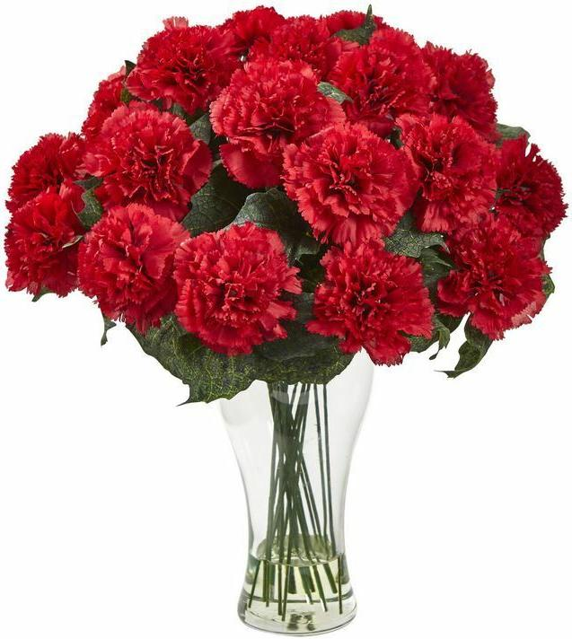 home office decor floral bloom artificial carnation