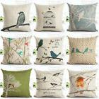 IK- Cute Bird Throw Pillow Case Office Sofa Square Waist Cus