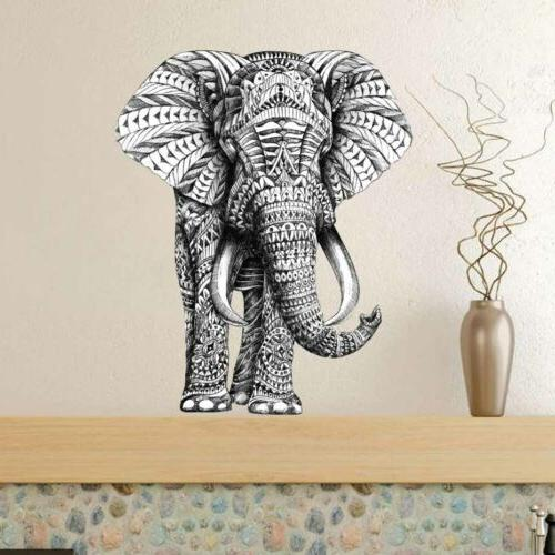 Indian Big Ivory Elephant Decal Home Decor