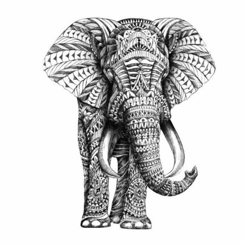 Indian Ivory Elephant Design Wall Home Office Decor