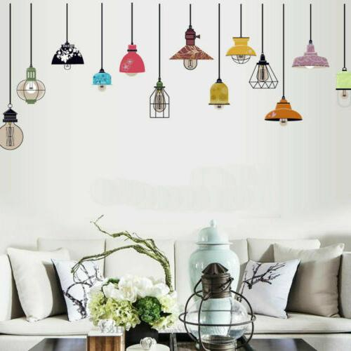 industrial hanging lights wall stickers home office
