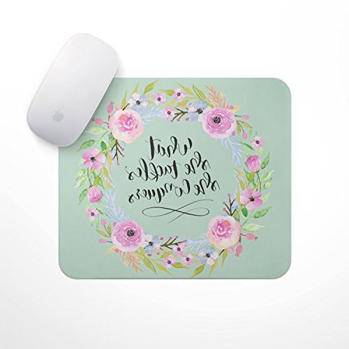 inspirational quote mouse pad wreath
