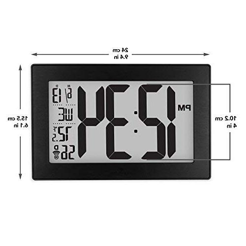 Marathon Slim Atomic Wall Clock with Table Included