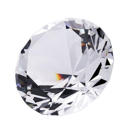 EOFEEL large diamond crystal glass paperweight home office d