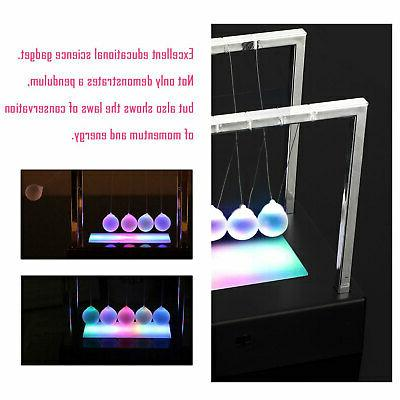 LED Newtons Cradle Balance Ball Science Desk Gifts
